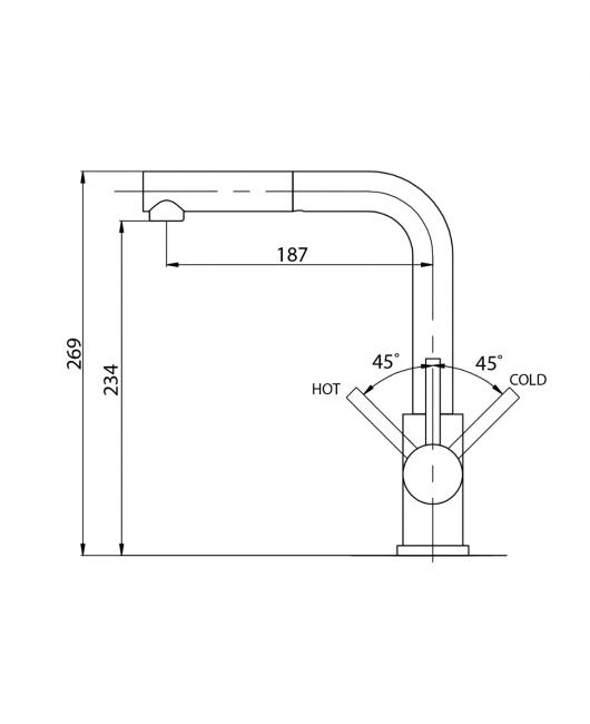 Baterie chiuveta Modus 2383-111 - silica