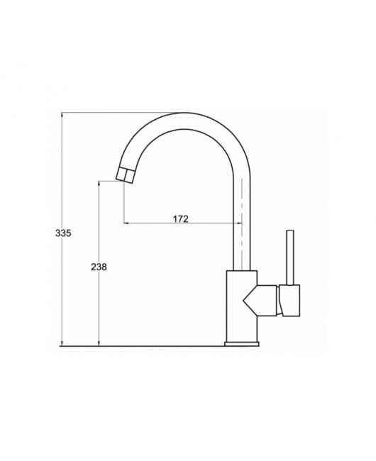 Baterie chiuveta Sabia 5523-601 - Negru metalic