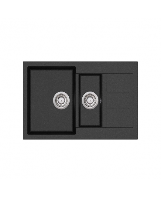 Chiuveta de bucatarie Tesa SQT151-601AW - negru metalic