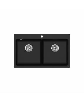 Chiuveta de bucatarie Magna SQM200-601W - negru metalic