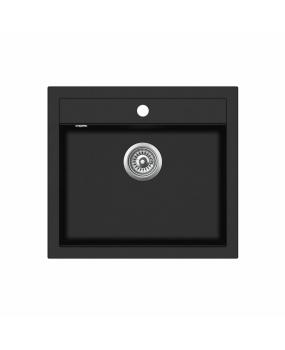 Chiuveta de bucatarie Quadro SQQ100-601AW - negru metalic