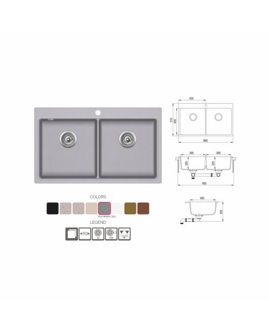 Chiuveta de bucatarie Magna SQM200-112W - ora