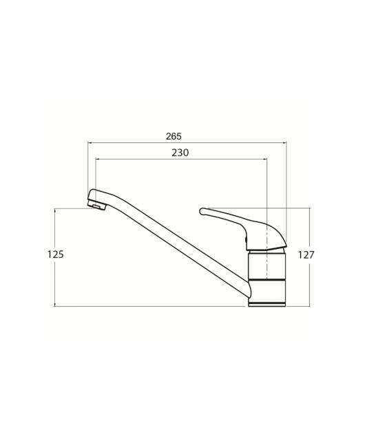 Baterie chiuveta Eko 2561-111 - silica