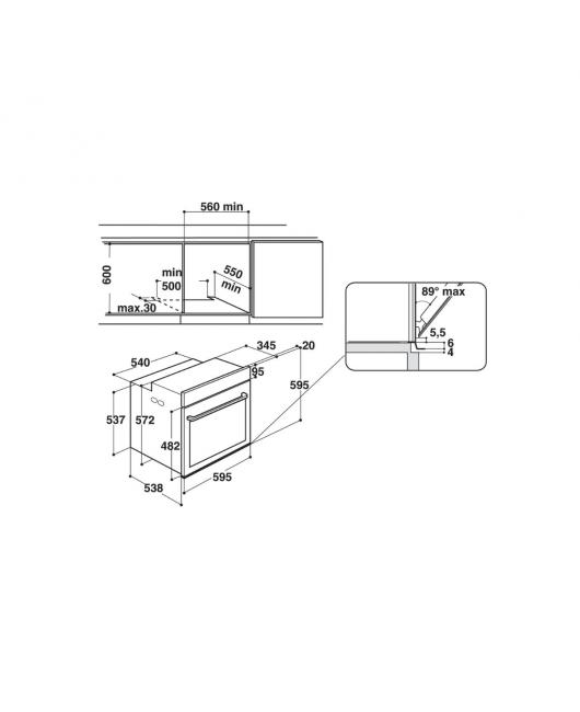 Cuptor multifunctional incorporabil Hotpoint FI7 861 SH BL HA
