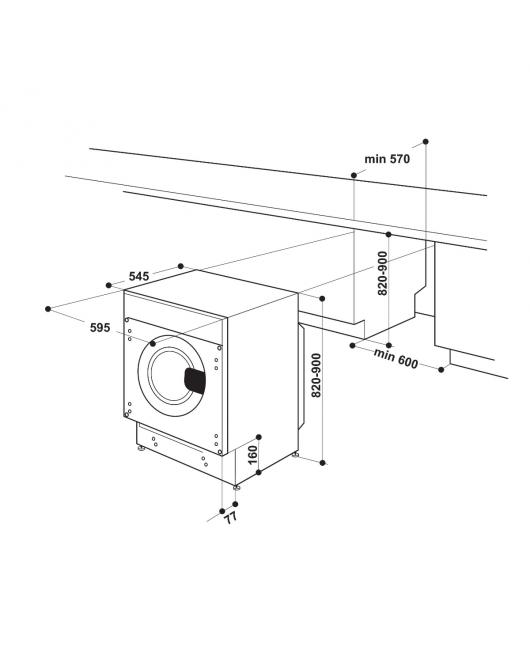 Masina de spalat rufe incorporabila Hotpoint BI WMHG 81484 EU