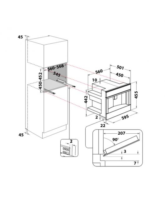 Expresor automat incorporabil Whirlpool W11 CM145